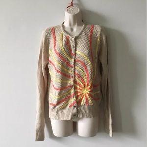 Anthropologie Hem & Thread cardigan size Large